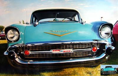 Oil Painting - 57 Chevy by Counterparts original