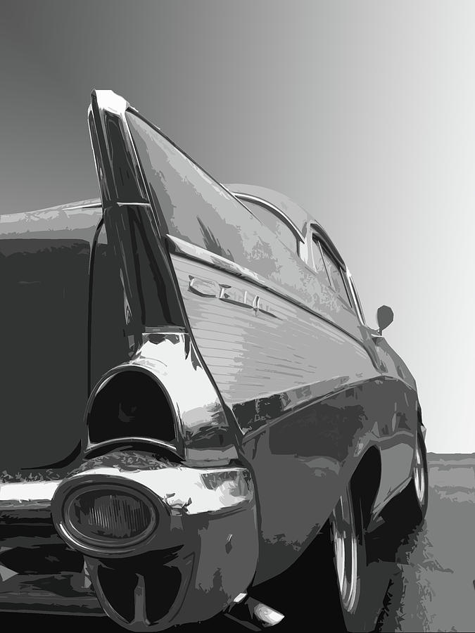 1957 Photograph - 57 Chevy verticle by Dick Goodman