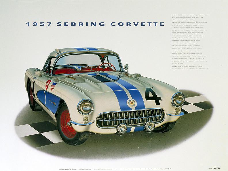 Cars Painting - 57 Corvette Sebring by Hugo Prado