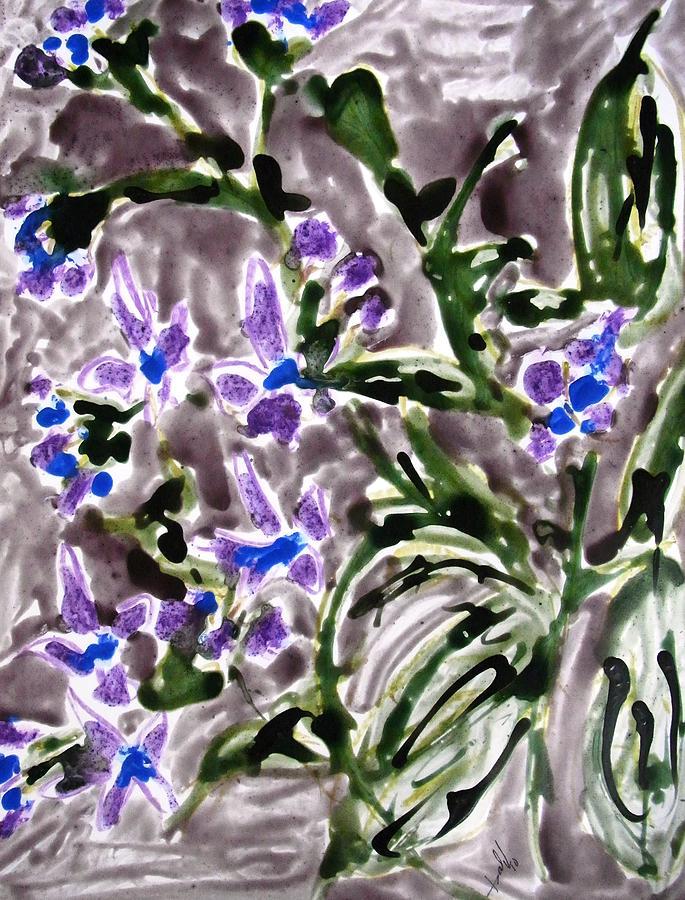 Nature Painting - Divine Flowers by Baljit Chadha