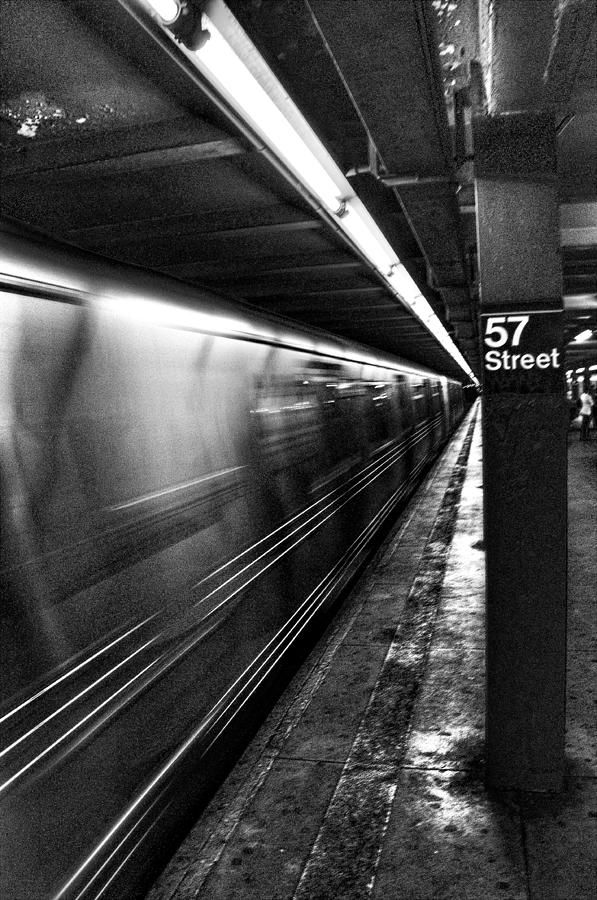 Subway Photograph - 57th Street Platform by Barry C Donovan