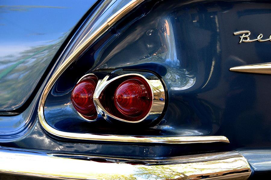 58 Bel Air Tail Light Photograph by Dean Ferreira