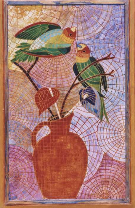 Little Birds Mixed Media - Loros by Victor Madero