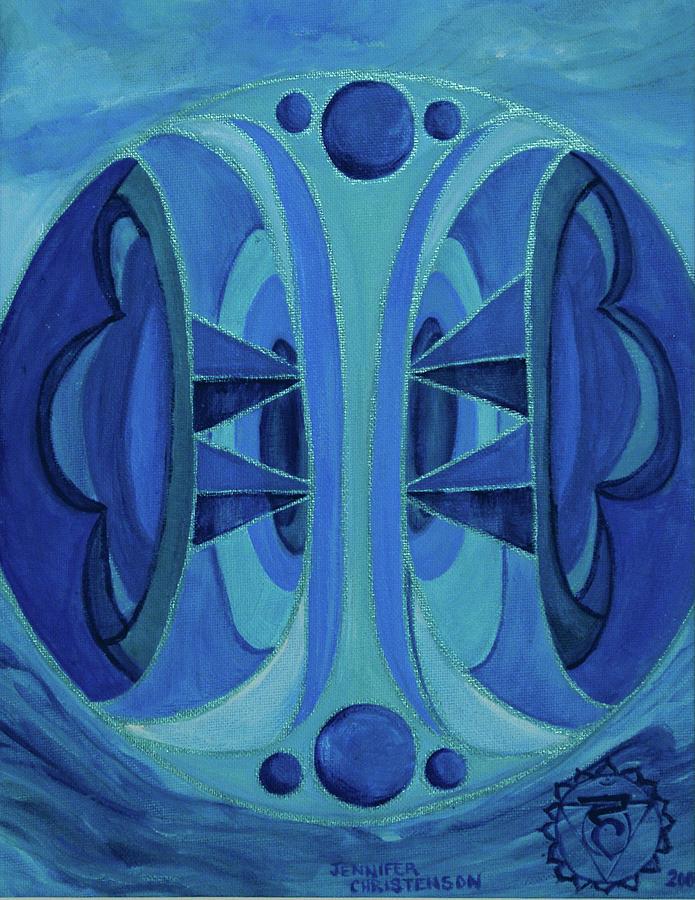 Mandala Painting - 5th Mandala - Throat Chakra by Jennifer Christenson