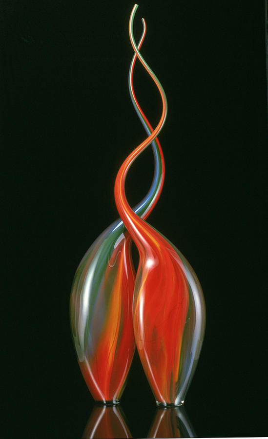 Sculpture Glass Art - Untitled by J Cline