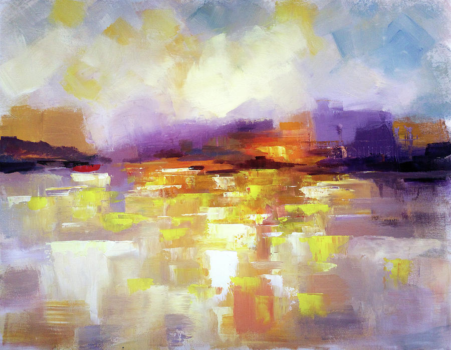6f9e0d655 Abstract Landscape. The new world, abstract art painting, landscape painting  by contemporary artist Zlatko Music.