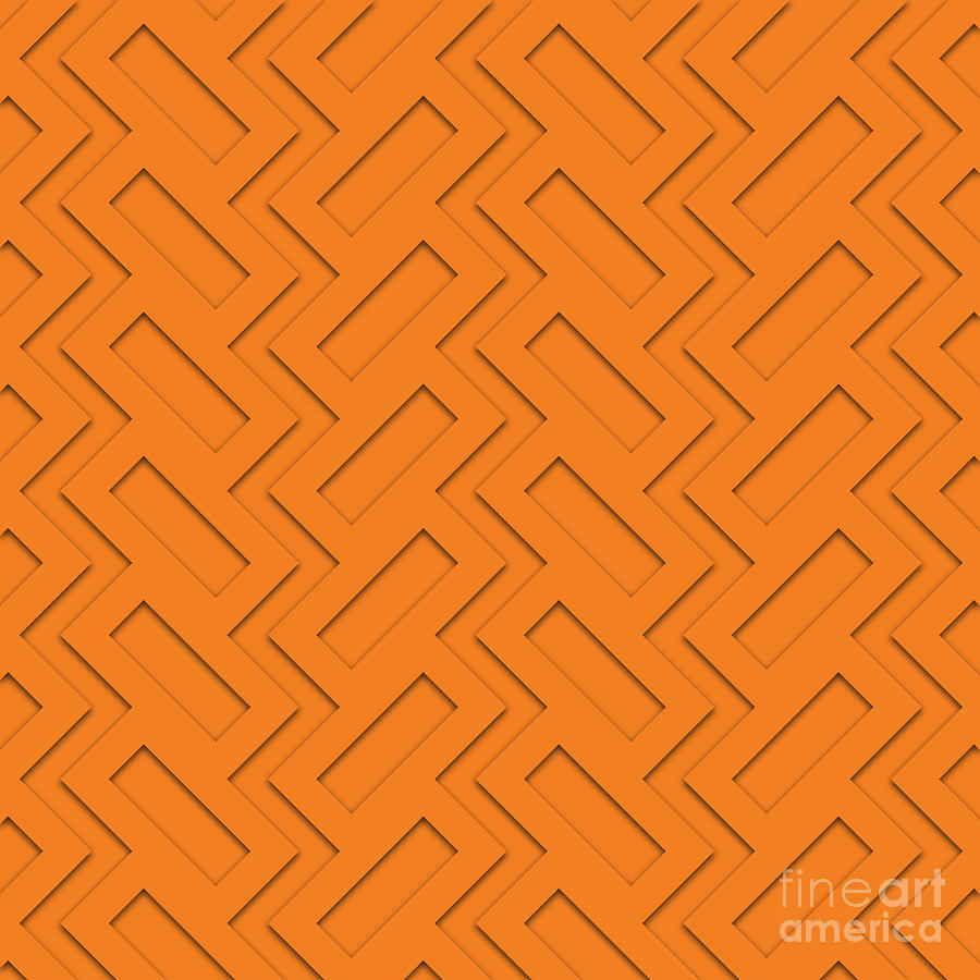 Painting Digital Art - Abstract Orange, White And Red Pattern For Home Decoration by Drawspots Illustrations