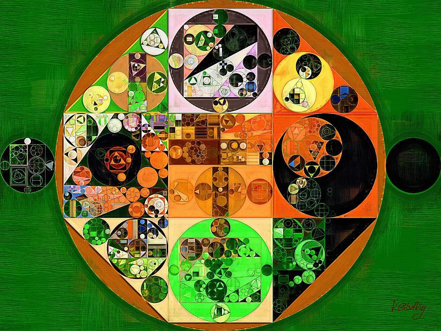 Element Digital Art - Abstract Painting - Lincoln Green by Vitaliy Gladkiy