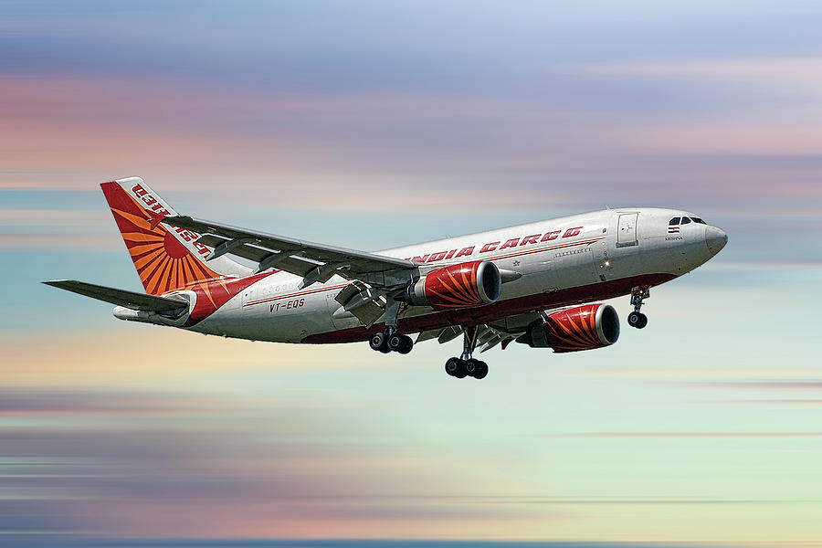 Air India Mixed Media - Air India Cargo Airbus A310-304 by Smart Aviation