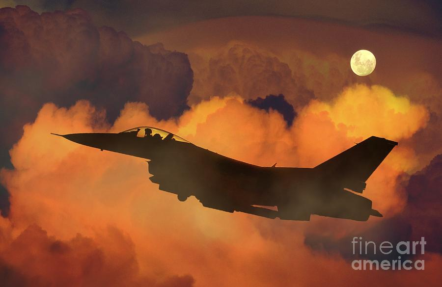 Aircraft Painting - Aircraft by Celestial Images