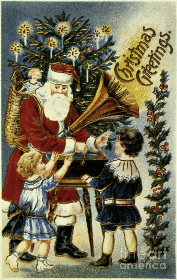 19th Century Photograph - American Christmas Card by Granger