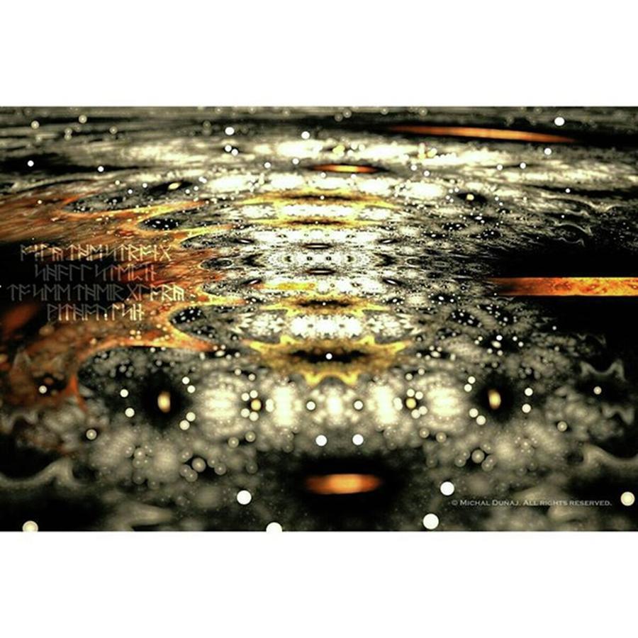 Fractals Photograph - #art  #abstract  #digitalart  #fractals by Michal Dunaj