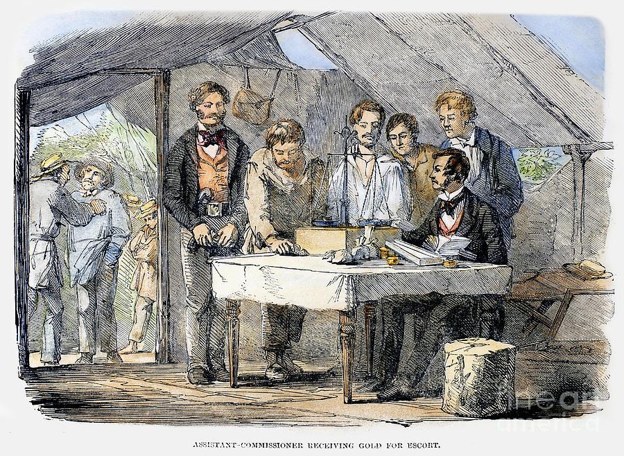 1852 Photograph - Australian Gold Rush, 1852 by Granger