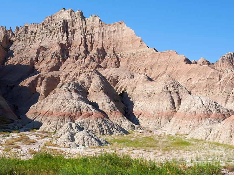 Layers Photograph - Badlands National Park South Dakota by Louise Heusinkveld