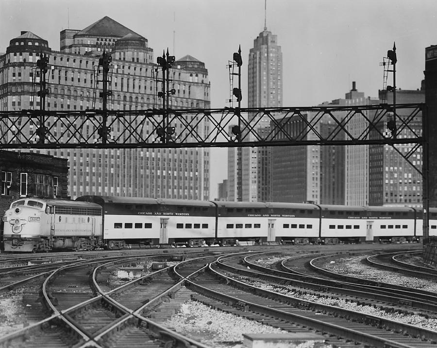 Passengers Photograph - Bilevel Train in Chicago - 1961 by Chicago and North Western Historical Society