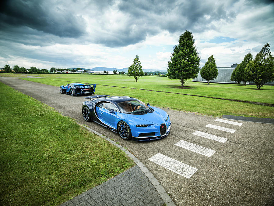 Bugatti Photograph - Bugatti Chiron And Vision Gt by George Williams