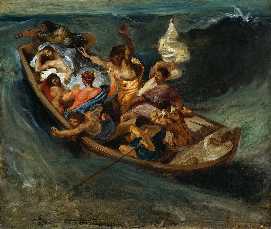 Christ Painting - Christ on the Sea of Galilee by Eugene Delacroix