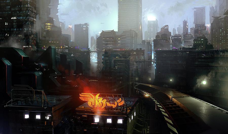 City Digital Art - City by Dorothy Binder