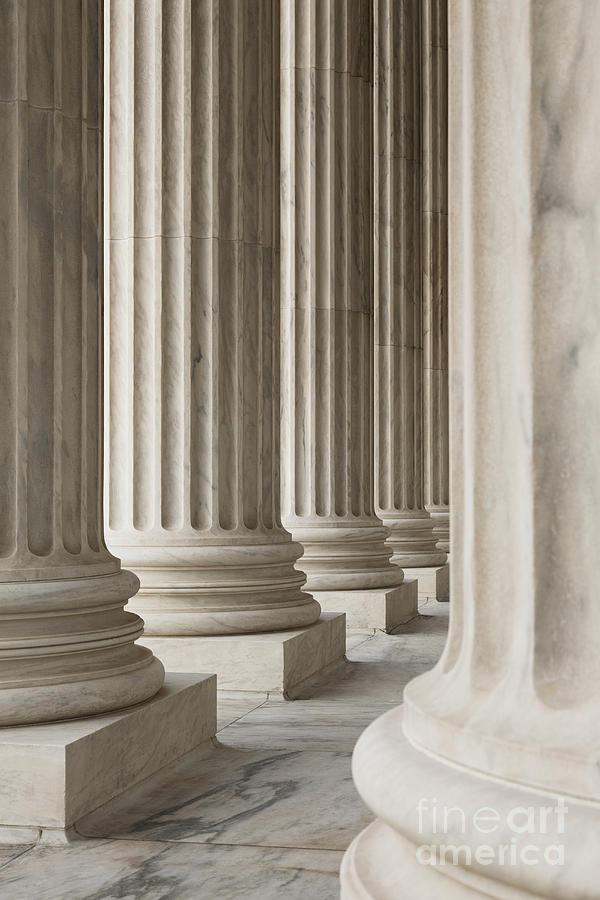 American History Photograph - Columns Of The Supreme Court by Roberto Westbrook