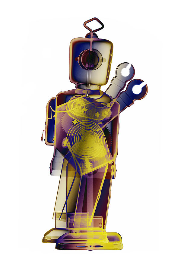 Robot For Sale Photograph - D4x X-ray Robot Art Photograph by Roy Livingston