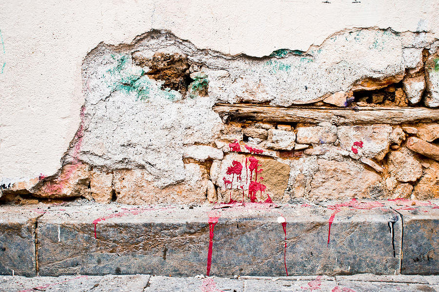 Abstract Photograph - Damaged Wall by Tom Gowanlock