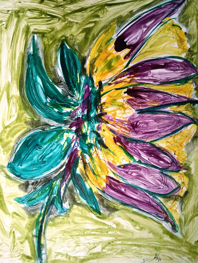 Abstract Painting - Divine Flower by Baljit Chadha