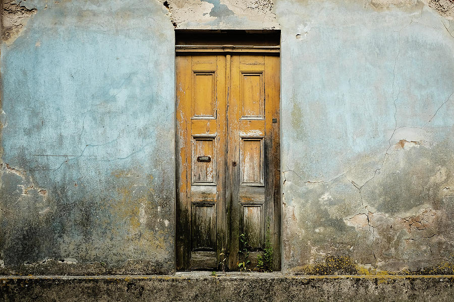 Street Photograph - Door With No Number by Marco Oliveira