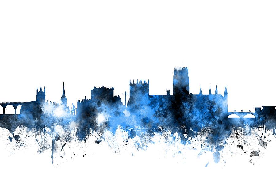Durham England Skyline Cityscape Digital Art By Michael Tompsett