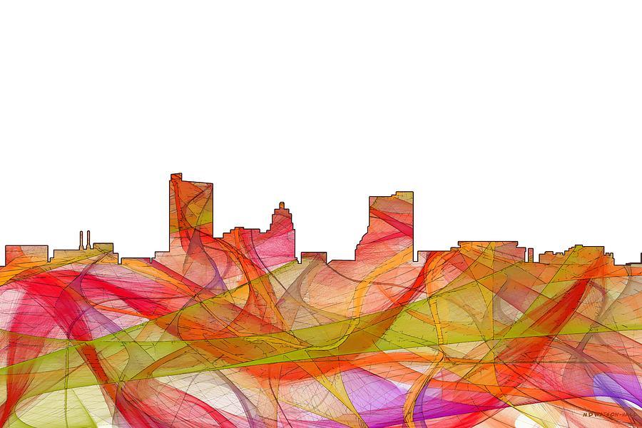 Fort Wayne Indiana Skyline Digital Art by Marlene Watson