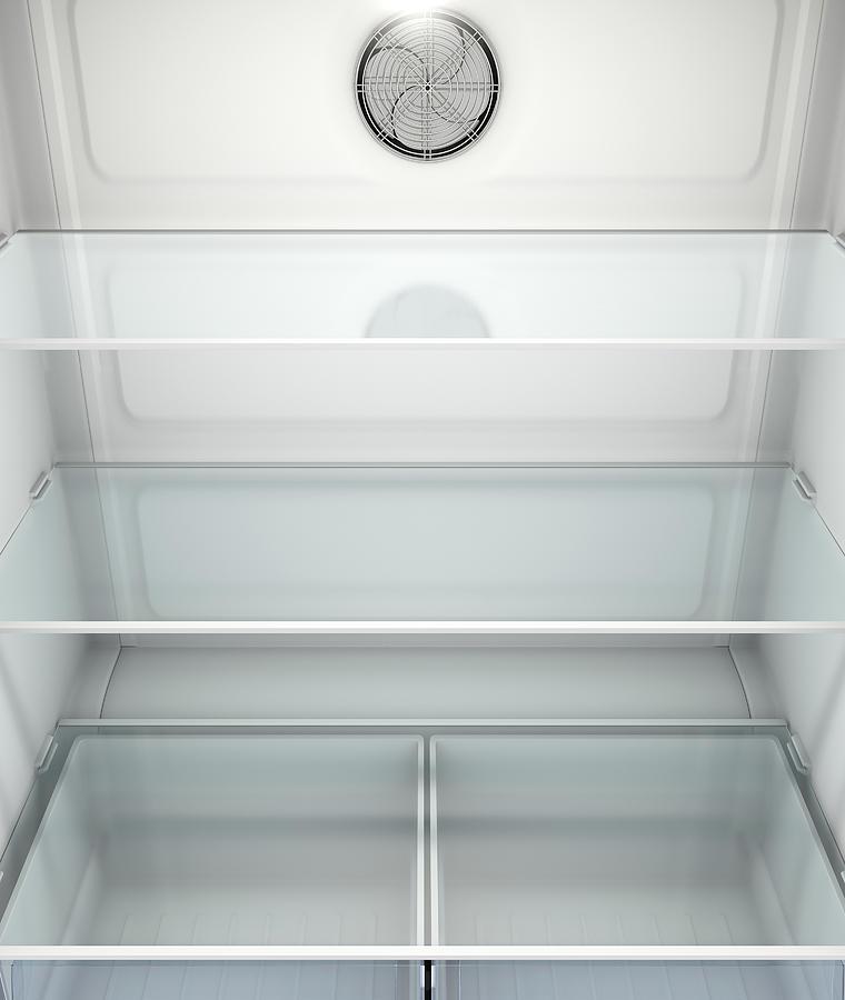 Refrigerator Digital Art - Fridge Interior by Allan Swart