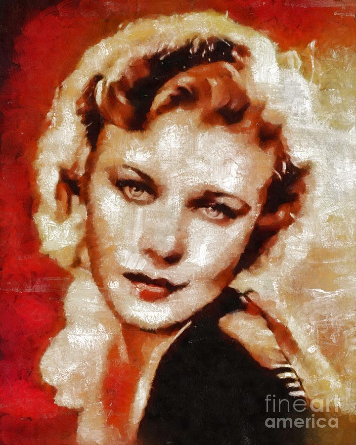 Hollywood Painting - Ginger Rogers Hollywood Actress And Dancer by Mary Bassett