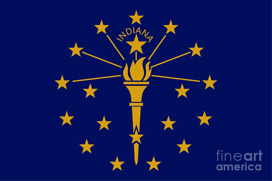 Indiana Flag Digital Art