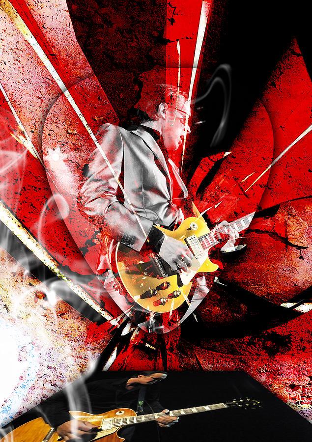 Joe Bonamassa Mixed Media - Joe Bonamassa Blues Guitarist Art. by Marvin Blaine