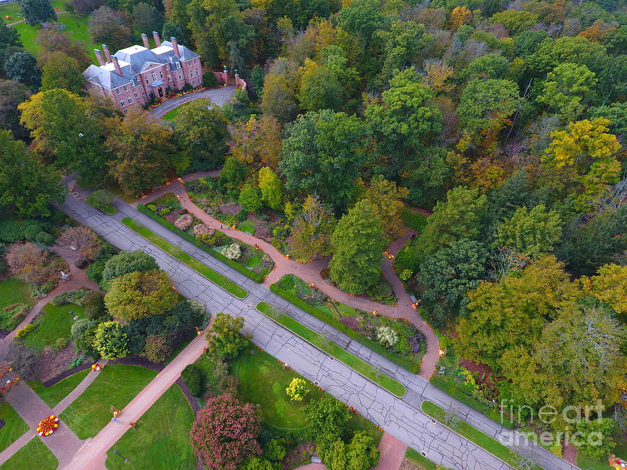 Amazing Photograph - Kingwood Center Gardens by Timeless Aerial Photography LLC