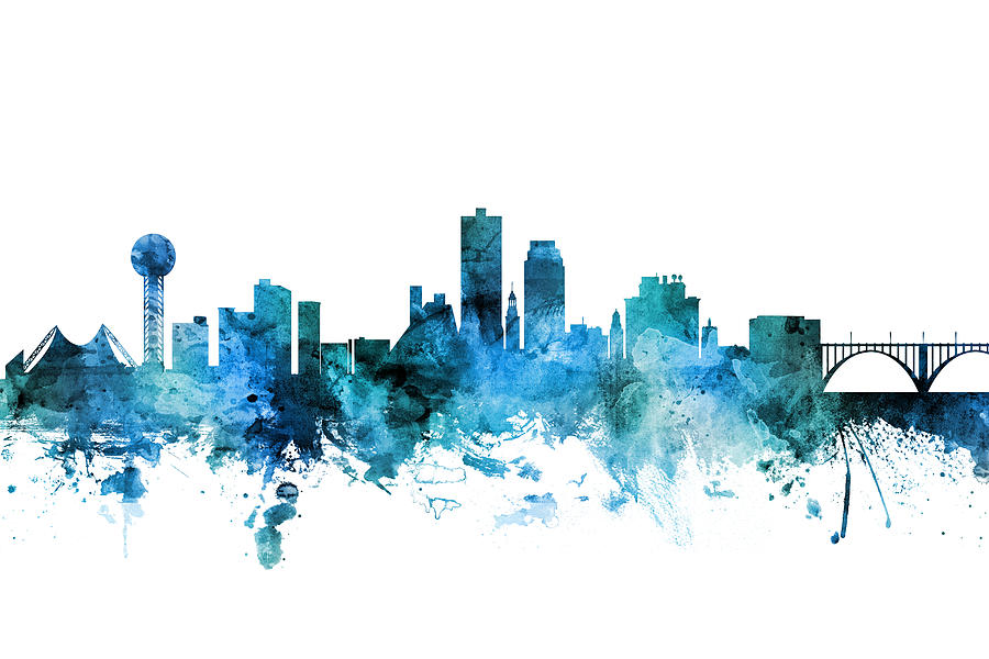 United States Digital Art - Knoxville Tennessee Skyline by Michael Tompsett