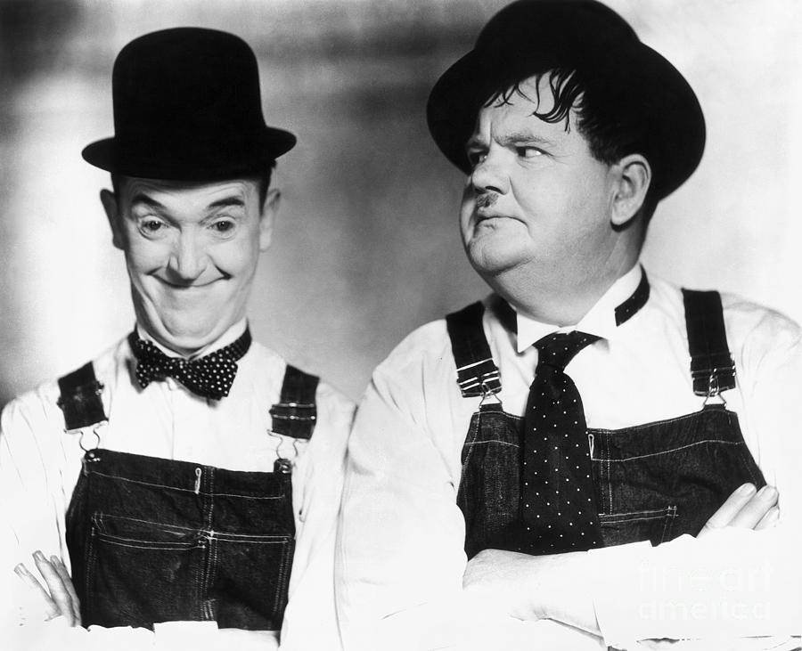 20th Century Photograph - Laurel And Hardy by Granger