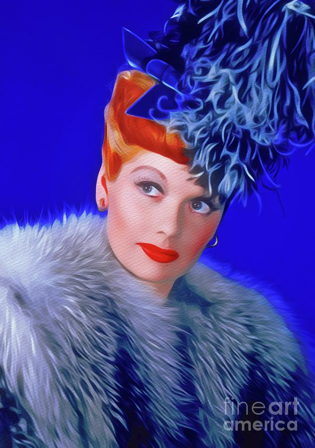 Lucille Ball, Vintage Actress Painting