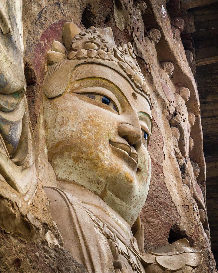 Buddhism Photograph - Maijishan Grottoes Tianshui Gansu China by Adam Rainoff