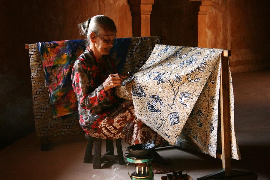 Making Traditional Batik Photograph by Rahmat Nugroho