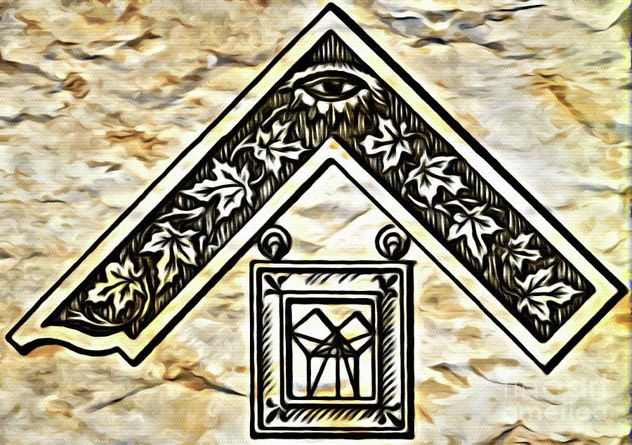 Freemason Digital Art - Masonic Symbolism Reworked by Pierre Blanchard