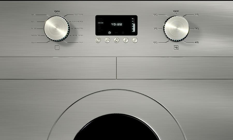 Washing Digital Art - Modern Washing Machine Closeups by Allan Swart