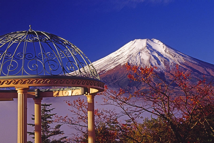 Japan Photograph - Mount Fuji In Autumn by Michele Burgess