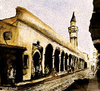 Graphic Painting - Old City by Soaad Ahmad