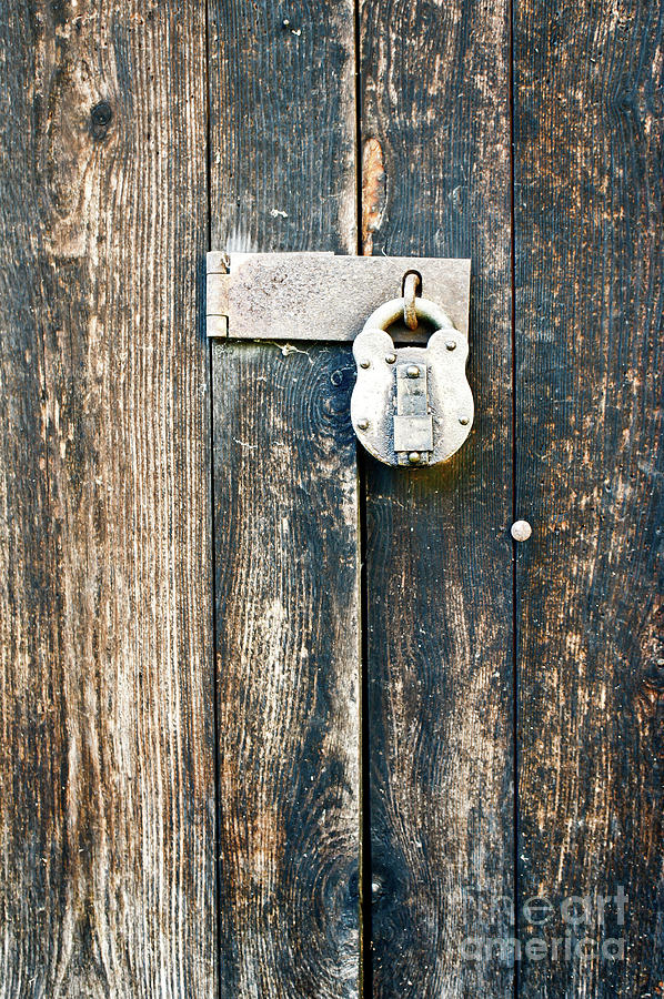 Aged Photograph - Old Wooden Door by Tom Gowanlock