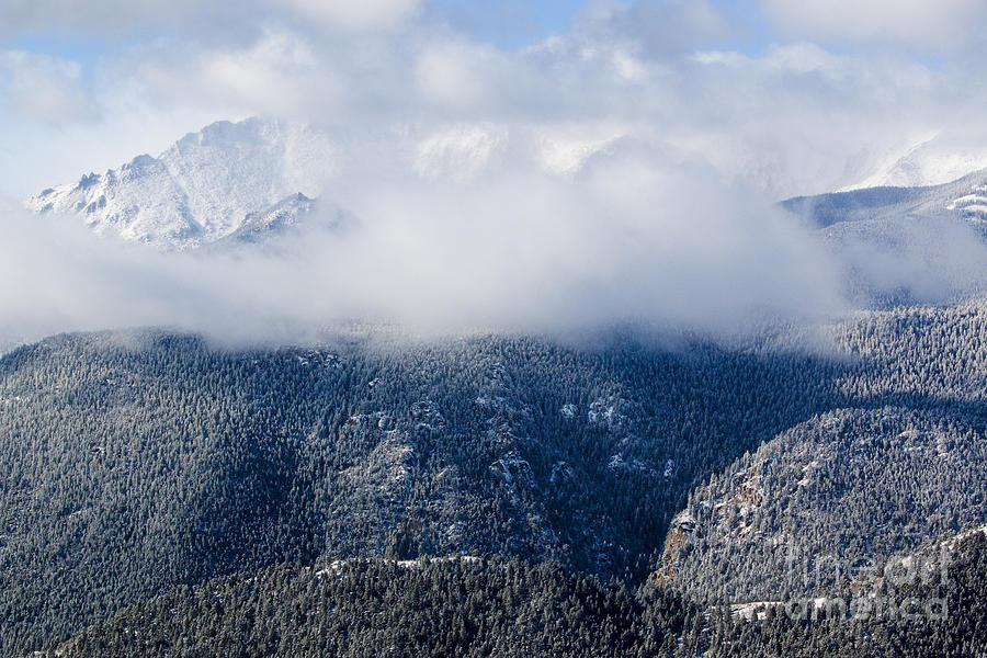 Pikes Peak In Snow Photograph