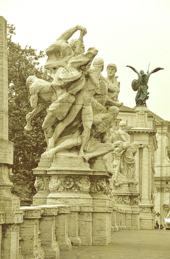 Italy Photograph - Ponte Vittorio Emanuele II Rome by JAMART Photography