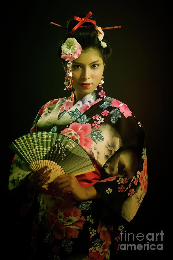 Portrait of Young Japanese Lady Photograph by Kiran Joshi