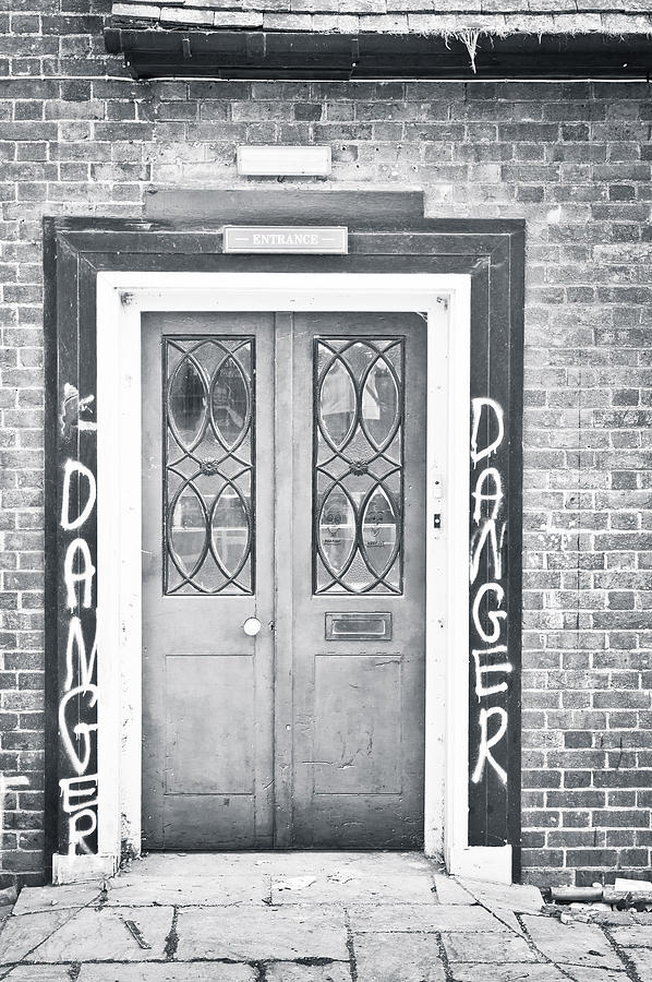 Aged Photograph - Red Door by Tom Gowanlock