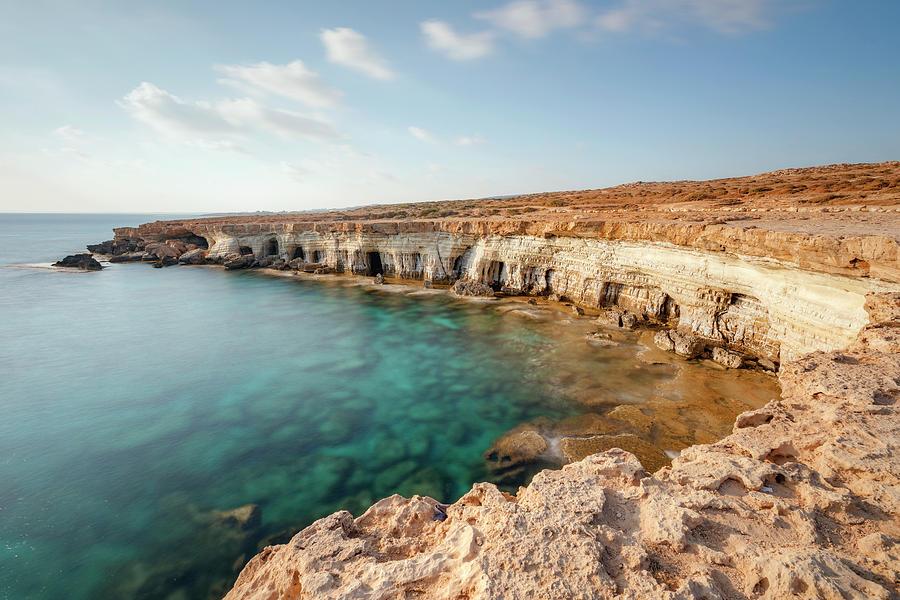 Sea Caves Photograph - Sea Caves Ayia Napa - Cyprus by Joana Kruse