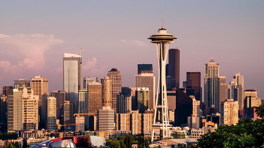 Architecture Photograph - Seattle by Radek Hofman